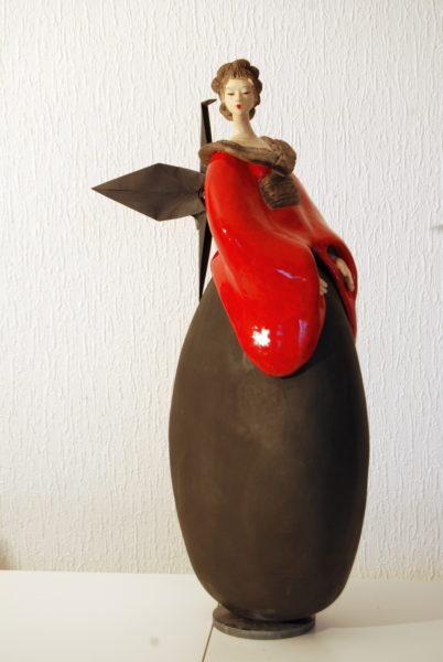 Sculpture Fille du Soleil Levant Pauline Wateau