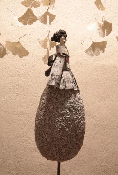 Pauline Wateau - Sculpture Fille du Soleil Levant 100% papier