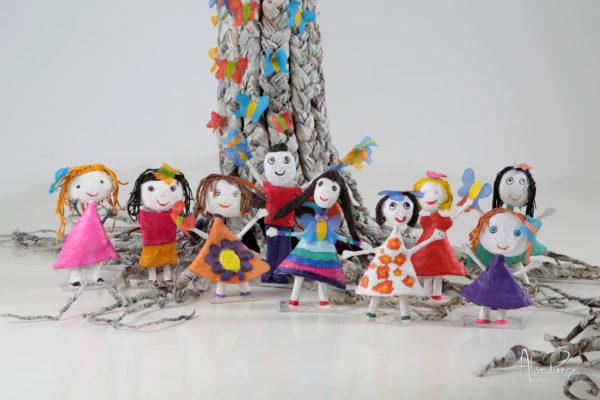 Sculpture Pauline Wateau d'après les dessins de sa petite fille Lylou